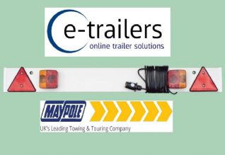 4ft Maypole Trailer Light Board 6m cable - Car Tractor Jetski Boat Dolly MP254P